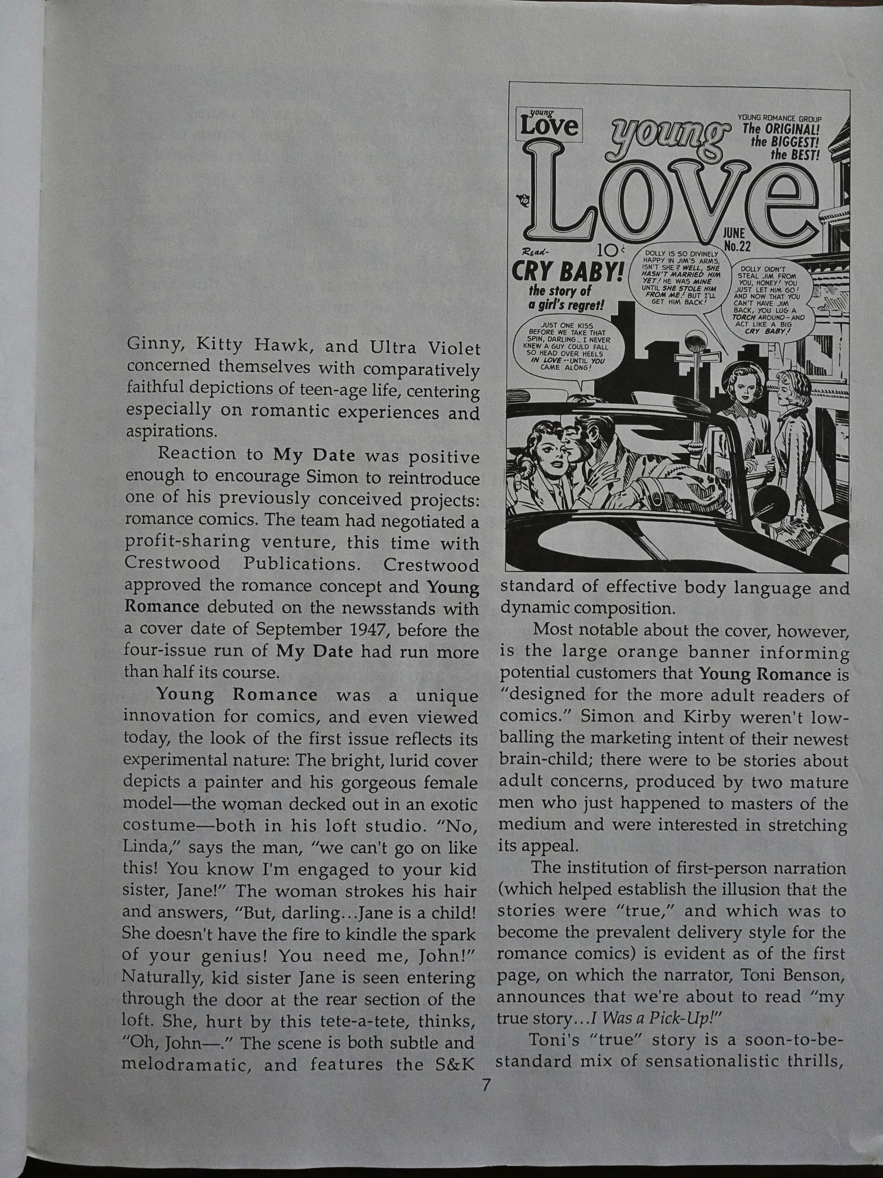 1988: Real Love: The Best of Simon and Kirby Romance Comics