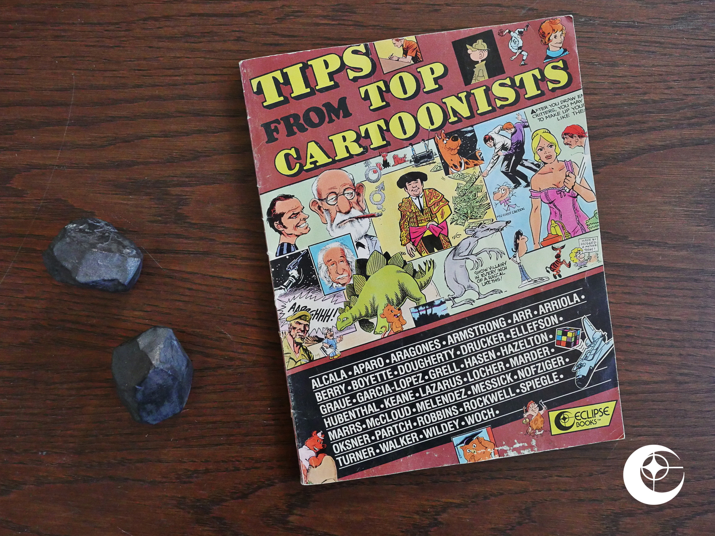 1988 Tips From Top Cartoonists Total Eclipse Hey Baby My Frist Book Softbook Were A Bit Out Of Sequence Here Im Playing Catch Up With Few Books That Didnt Arrive In Time For Me To Blog About Them When Cdo Said